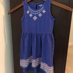 Girls Blue high low Gymboree dress size 5-6 hi lo